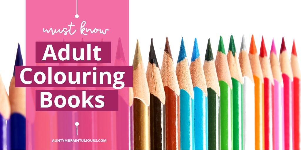 Adult Colouring Books and crayons