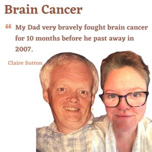 Father and Daughter photo who both had a brain tumour