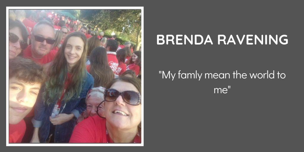 Brenda was diagnosed with a Hemangioblastoma