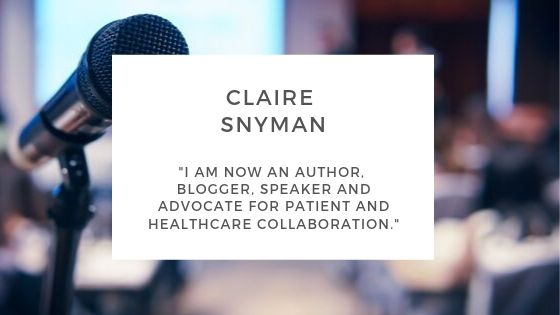 Claire Snyman Colloid Cyst blogger speaker and advocate for patient and healthcare collaboration