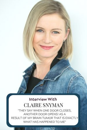 Claire Snyman from Canada was diagnosed with a rare brain tumour. A Colloid Cyst.