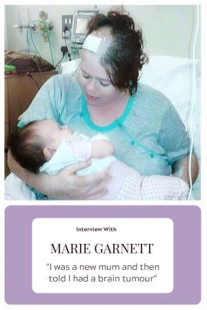 Marie Garnett and her brain tumour