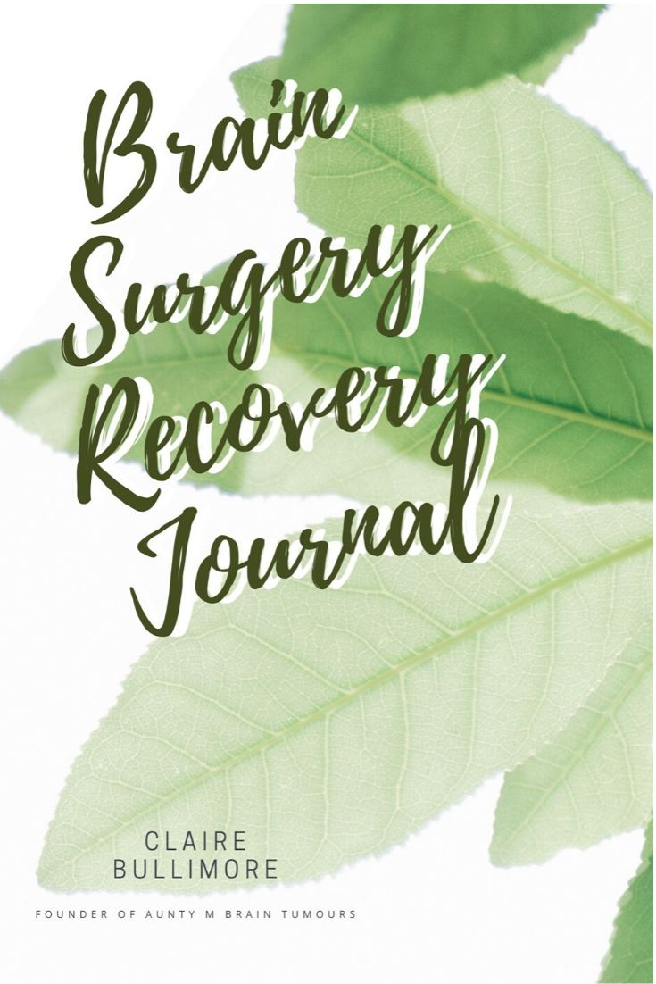 Brain Surgery Recovery Journal - fill out your month to set it up right and give positivity