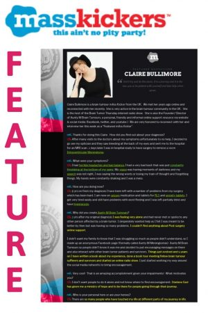 Claire Bullimore is interviwed with MassKickers