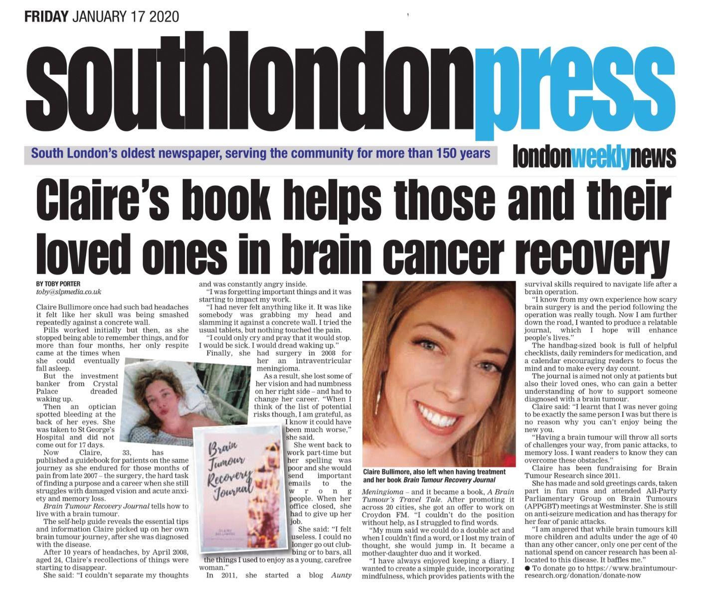 Claire Bullimore - Aunty M Brain Tumours