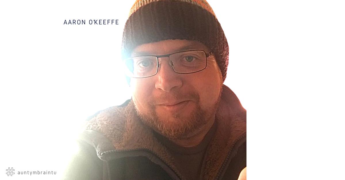 Photo of Aaron O'Keeffe. He has had 14 Brain Surgeries