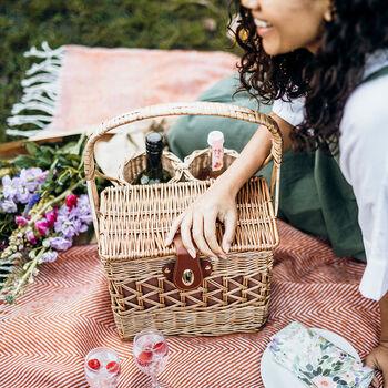 Willow Picnic Basket Set Two Person