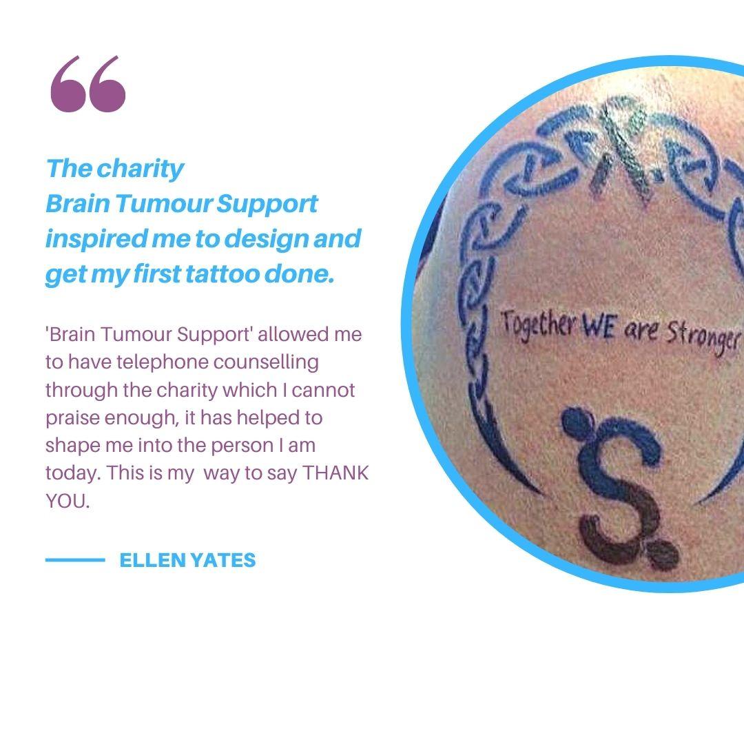 Brain Tumour Support Tattoo.