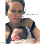Hannah Grady and her daughter at hospital after brain surgery
